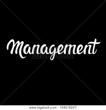 Management Teamwork Business Cooperation Management Infographic Vector Illustration