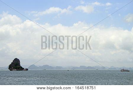 Ha long bay on the north of Vietnam
