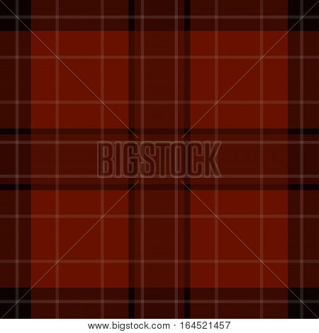 seamless illustration - red brown black tartan with squares and white stripes