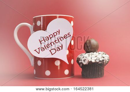 Valentine Polka Dot Coffee Messages