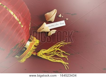 Chinese New Year Fortune Cookie With Lantern