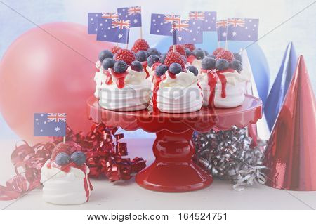 Australian Mini Pavlovas And Flags