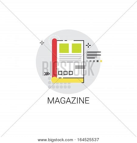 Magazine Newsletter Application Newspaper Web Icon Vector Illustration