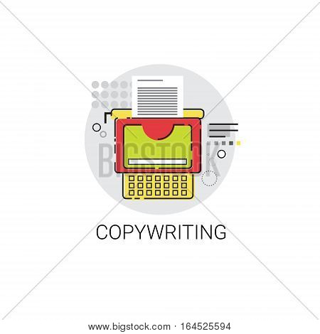 Copywriting Freelance Occupation Content Marketing Icon Vector Illustration
