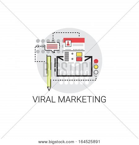 Viral Content Marketing Optimization Icon Vector Illustration