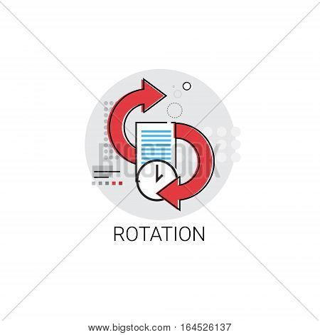 Rotation Update Application Process Icon Vector illustration