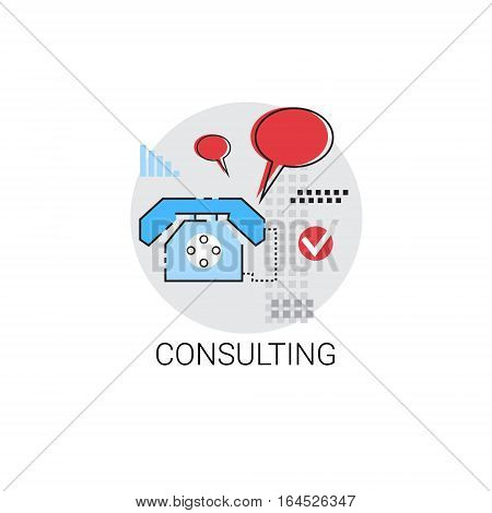 Customer Consulting Support Service Icon Vector Illustration