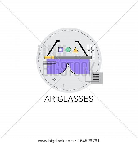 Ar Glasses Augmented Reality Visual Technology Icon Vector illustration