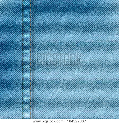 Light blue jeans texture. Denim background. Pattern can be used for wallpaper, web page background, surface textures etc
