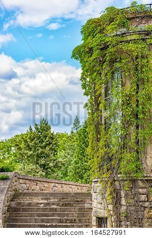 The Bergfried in the city Saalfeld Germany Thuringia