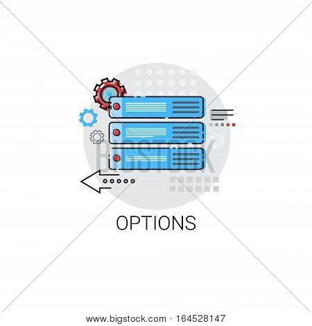 Options Sign Choose Direction Way Signboard Arrow Icon Vector Illustration
