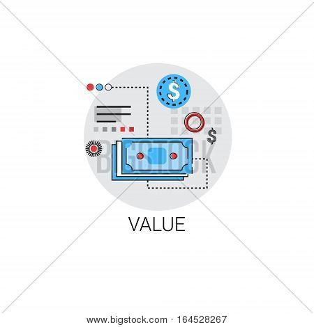 Value Money Finance Banking Icon Vector Illustration
