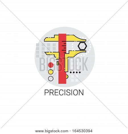 Precision Industry Production Quality Icon Vector Illustration