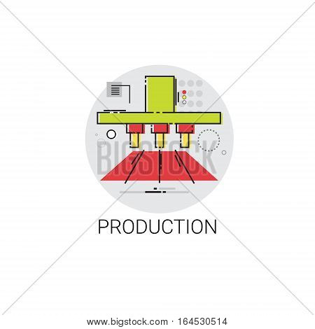 Industry Production Technology Automation Icon Vector Illustration