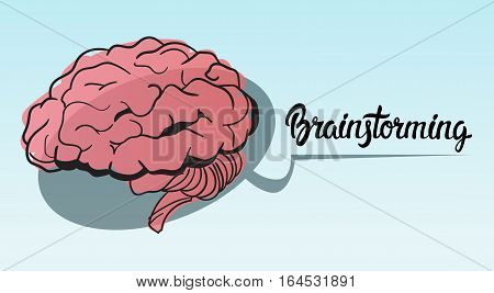 Brainstorming Briefing Idea Creative Concept Doodle Sketch Hand Draw Background Business Brainstorming Infographic Vector Illustration