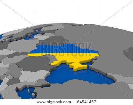 Ukraine On 3D Globe