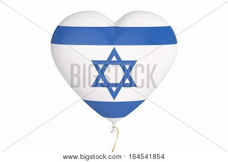 Balloons with flag of Israel holiday concept. 3D rendering