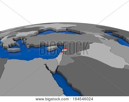 Lebanon On 3D Globe