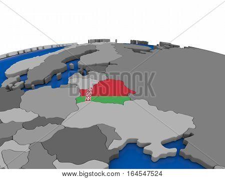 Belarus On 3D Globe