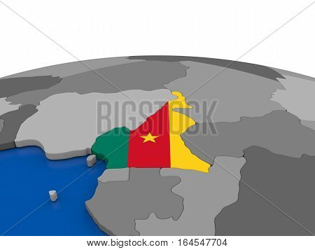 Cameroon On 3D Globe