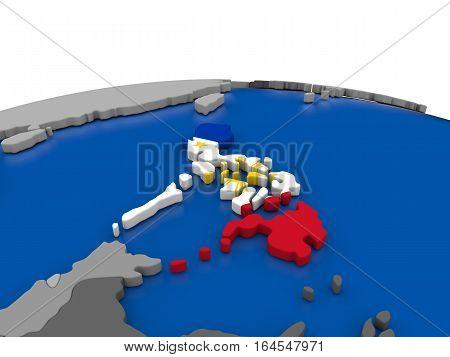Philippines On 3D Globe