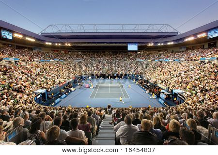 MELBOURNE - JANUARY 28: Rod Laver Arena during the semi final match between Andy Murray and David Ferrer on January 28, 2011 in Melbourne, Australia.