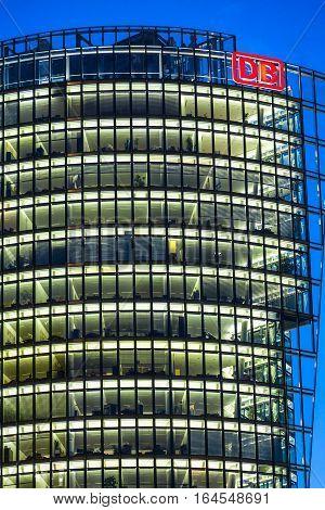 Bahntower, Skyscraper On Potsdamer Platz In Berlin, Germany