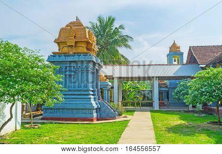 In Garden Of Hindu Temple