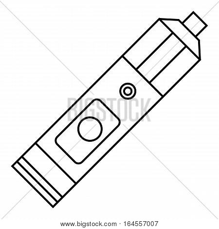 Big flashlight icon. Outline illustration of big flashlight vector icon for web