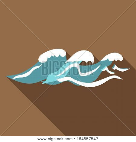 Seaway icon. Flat illustration of seaway vector icon for web