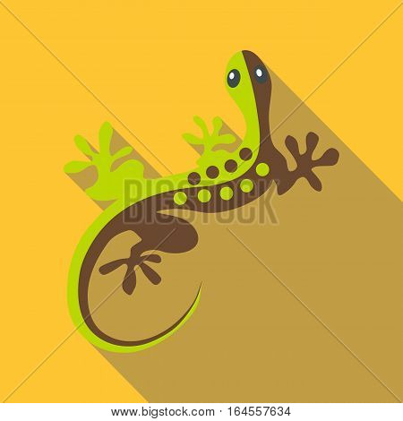 Gecko icon. Flat illustration of gecko vector icon for web