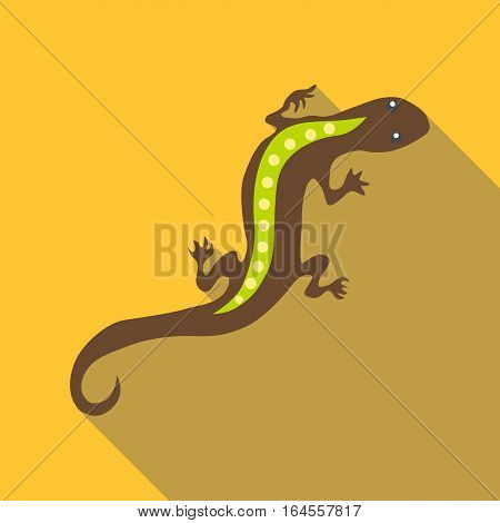 Stripped lizard icon. Flat illustration of stripped lizard vector icon for web