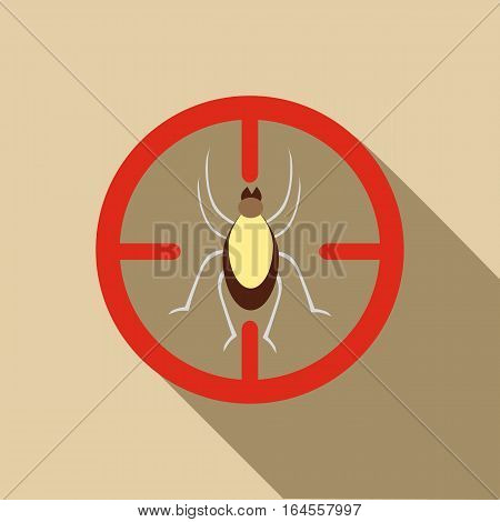 Mite icon. Flat illustration of mite vector icon for web