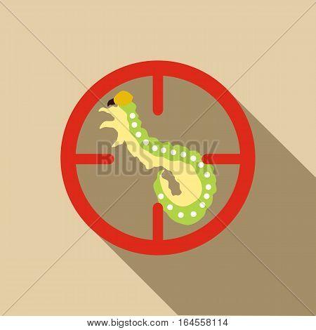 Larva icon. Flat illustration of larva vector icon for web