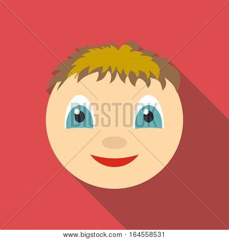Smile icon. Flat illustration of smile vector icon for web
