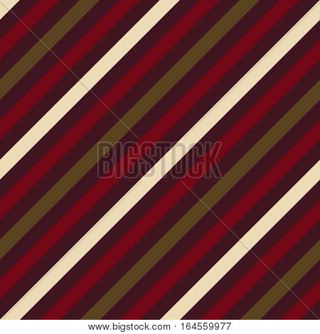 Seamless geometric pattern. Stripy texture for neck tie. Diagonal contrast strips on background. Brown vinous beige colors. Vector