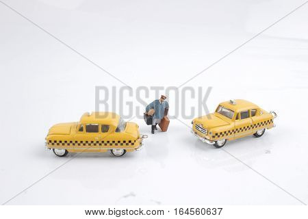 The Small Figure Of Taxi