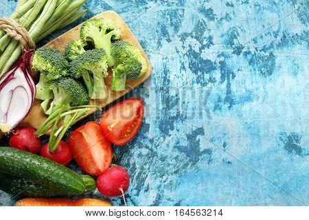 still life healthy eating - organic vegetables