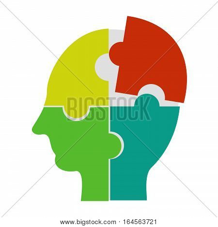 Making a solution concept. Human learning human brainstorming or human thinking concept illustration.
