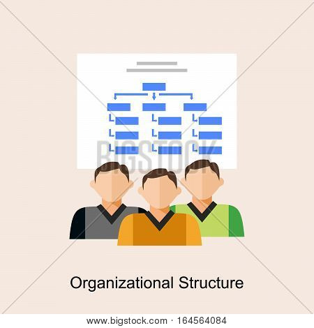 Organizational structure concept. Organization diagram. flat design.