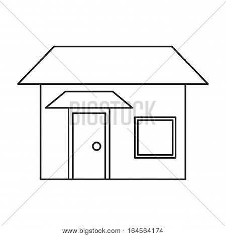 house real state two story outline vector illustration eps 10