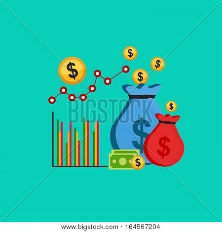 Business profit or business growth concept illustration