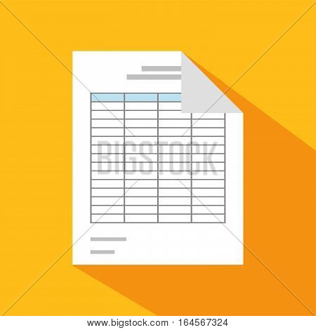 Business documents icons. Report paper. Spreadsheet symbol