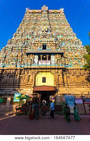 Madurai Meenakshi Amman Temple East Tower Gateway
