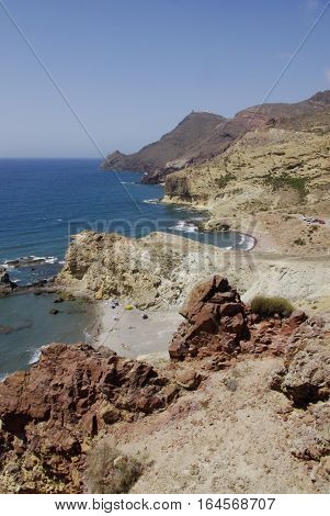 The Wild Coastline Of Cabo The Gata, In Andalusia.