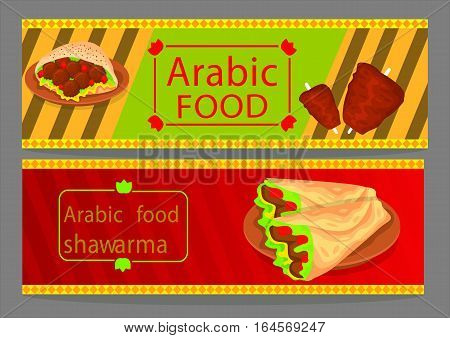 Kebab Arabic Food, This design is suitable for a brochure, banner or poster