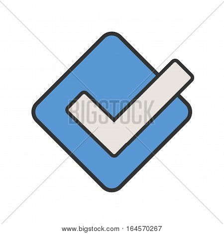 Foursquare, internet, search icon vector image. Can also be used for social media logos. Suitable for mobile apps, web apps and print media.