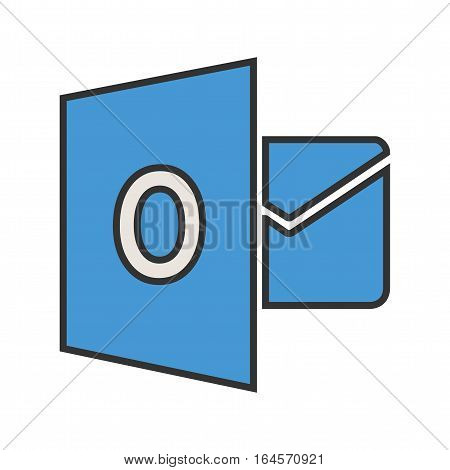 Outlook, google, email icon vector image. Can also be used for social media logos. Suitable for mobile apps, web apps and print media.