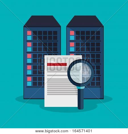 data center search file developer system vector illustration eps 10