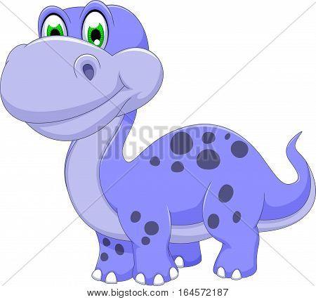 cute dinosaur cartoon smiling for you design
